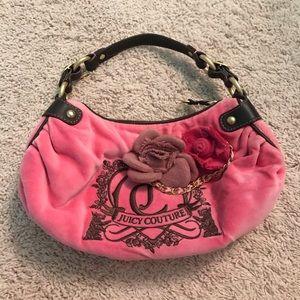 Juicy Couture Pink Velour Shoulder Bag